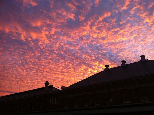 A recent sunset over DC