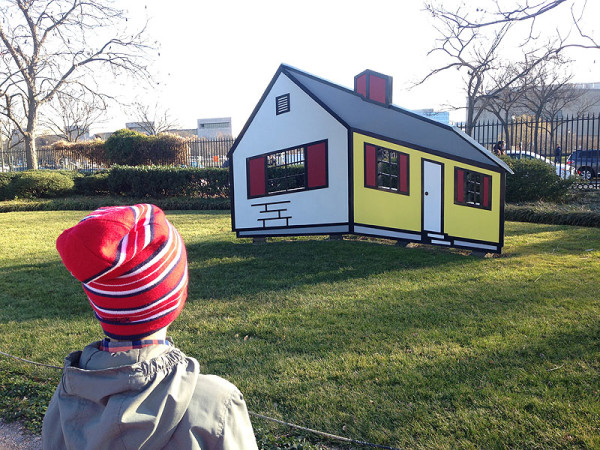 Lichtenstein's House I at the NGA Sculpture Garden is a fun optical illusion to view