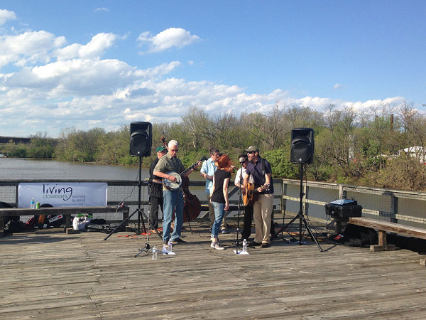 Jammin' by the river at last year's Kingman Island Bluegrass Festival