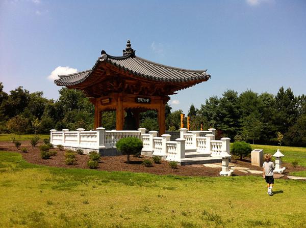 The Korean Bell Garden at Meadowlark