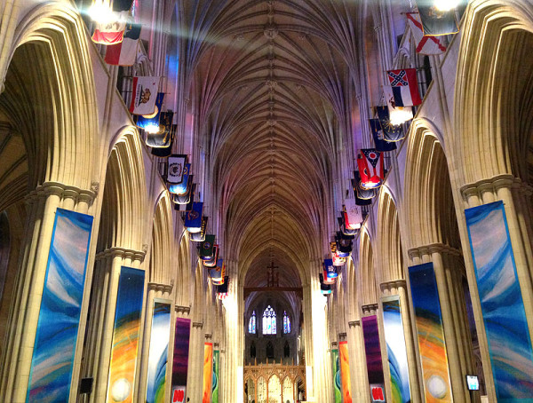The magnificent interior of the National Cathedral during the last Flower Mart