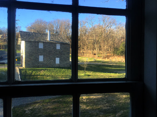 A view of Peirce barn next door