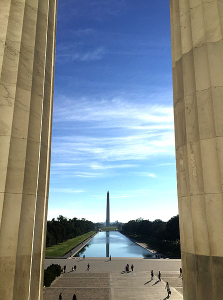 A view of Washington from Lincoln