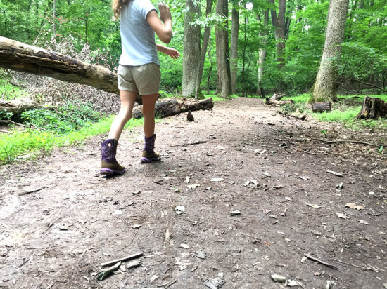 On the trail at Woodend...  these boots were made for walkin'