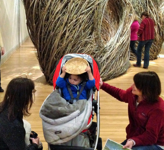 A simple basket plate helps connect this young child to the artwork while visiting the Renwick Gallery
