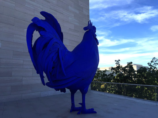 A giant blue rooster, a roof top space, and great views from it...all new at the NGA