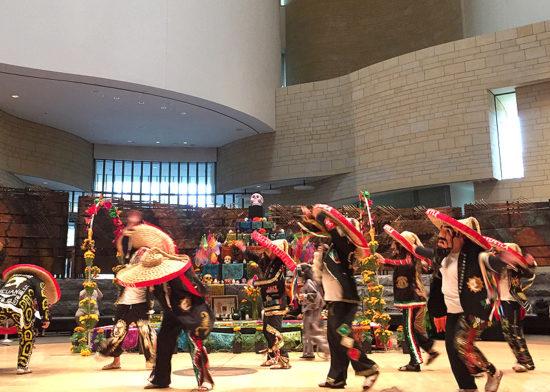 A traditional Día de los Muertos performance at the American Indian Museum